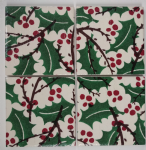 4 Ceramic Coasters in Emma Bridgewater Holly and Berries